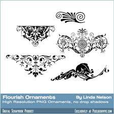 free flourishes ornaments printers ornaments scrolls