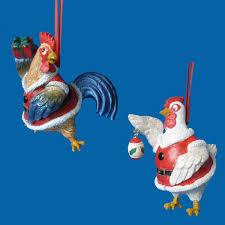 ornaments silent poultry ornament