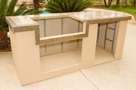 Beauty Outdoor Kitchen Island Kit OxBox Universal Cabinets Fire - Kitchen cabinets diy kits