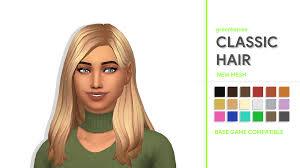 sims 4 maxis match cc hair sims 4 maxis match cc greenllamas classic hair greenllamas so