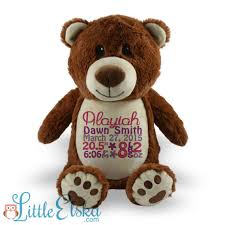 Engraved Teddy Bears Personalized Teddy Bear Birth Stats Bear Name Bear Future
