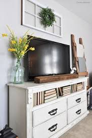Ideas For Bedroom Decor Decorating Around The Tv Ideas Pic From Ourvintagenest Styling
