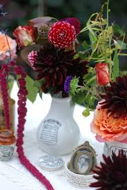 get a vintage rustic or festival look for your wedding flowers