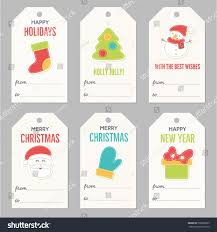 collection new year christmas gift tags stock vector 508206295