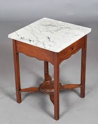 antique marble top side table