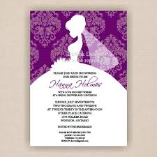 bridal invitation wording purple wedding shower invitations office bridal shower invitation