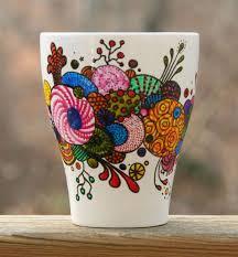 Coffee Mug Design Hand Painted Coffee Mug Organic Abstract By Rileymicadesigns