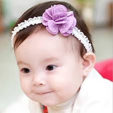 flower hair band baby girl elastic hair band floral dot flower hair aaccessorie s