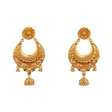 gold ear ring image khimji jewellers earring collections khimjijewellers co in