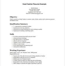 Cashier Resume Experience Cashier Resume 1 Cashier Resume Cashier Resume With Samples Bar