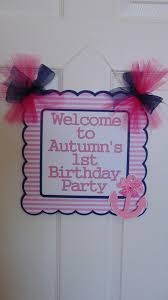 Anchor Decorations For Baby Shower Nautical Pink And Navy Birthday Welcome Door Sign Baby Shower
