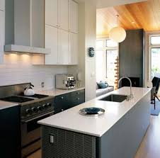 modern kitchen with gas range and modern faucet kitchen faucet