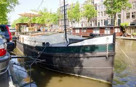 Airbnb Houseboat by A Canal Barge Houseboat In Amsterdam Small House Bliss