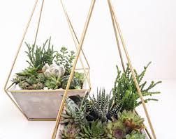 Modern Hanging Planters Geometric Planter Etsy
