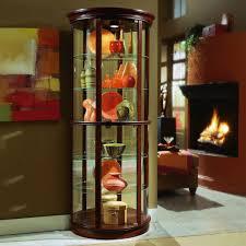 Pulaski Furniture Curio Cabinet by Cherry Half Round Curio Cabinet By Pulaski Furniture My
