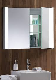 led illuminated bathroom mirror cabinet with demister heat pad