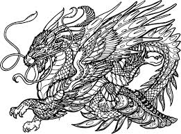 hydra dragon creature coloring page wecoloringpage