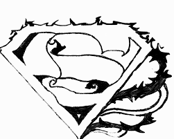 superman logo coloring pages logo coloring pages for kids 9764