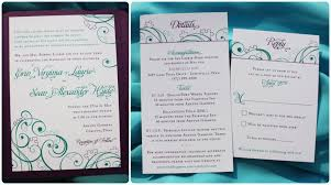 wedding invitations details card purple teal turquoise puzzle swirl pocketfold wedding