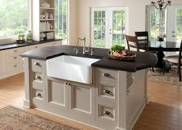decorating antique kitchen island with white apron front sink and