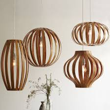 Wooden Chandelier Modern Wood Pendant Light