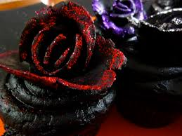 goth halloween background diary of a mad hausfrau black velvet rose cupcakes for halloween