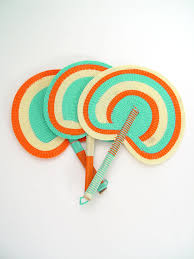 plastic fans woven plastic fans gifts from senegal