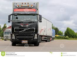 2015 volvo semi truck for sale black volvo fh16 leaving truck stop editorial stock photo image