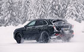 porsche winter next gen porsche cayenne spied kicking off winter testing season