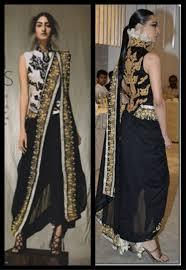 Draping Designs How To Wear Designer Saree Dhoti Saree Pant Style Saree Indo