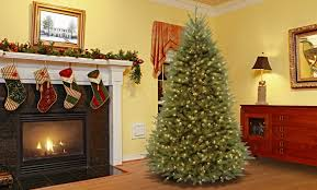 christmas tree with lights mercer41 fir 7 5 hinged artificial christmas tree with lights