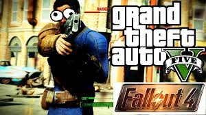 fallout 4 in gta 5 vats and power armor hd 1080p youtube