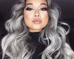 frosted gray hair pictures grey hair extension etsy