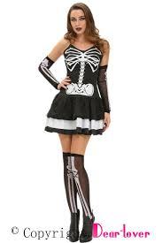 3pcs skeleton halloween masquerade costume wholesale