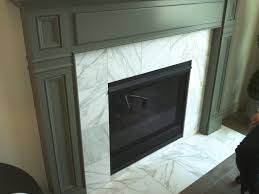 Tiled Fireplace Wall by Carrara White Tile Fireplace Surround Found At Contempo Tile