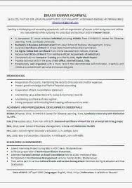 Mba Sample Resume For Freshers Finance by Professional Resume For Mba Finance Fresher