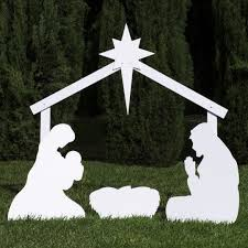 Christmas Outdoor Decorations On Ebay by Best 25 Outdoor Nativity Sets Ideas On Pinterest Outdoor