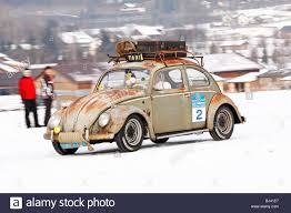 volkswagen winter rusty vw beetle built in 1958 classic cars winter race historic