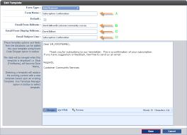 customer community managing auto response templates