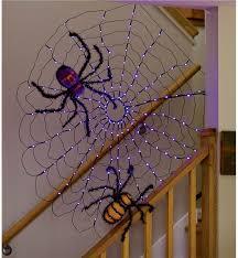 lighted halloween spiderweb decoration decorative garden accents