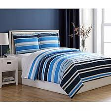 Blue Striped Comforter Set Comforter Sets Bedding Sets Kmart