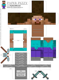 Minecraft Map Editor Minecraft Papercraft Steve Minecraft Papercraft Steve With Armor