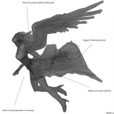 angel drawing guide learn the process and techniques on how to