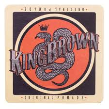 king brown pomade drink coaster
