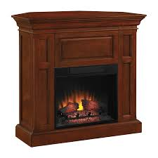 shop chimney free 42 in w 4 600 btu cherry electric fireplace with