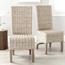 amazon com safavieh home collection pembrooke wicker side chairs