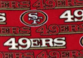 san francisco 49ers football fleece fabric red