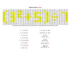 gcse maths bidmas colouring problem worksheet by alutwyche