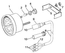 tachometer kits flush mount analog plug in instruments 1990