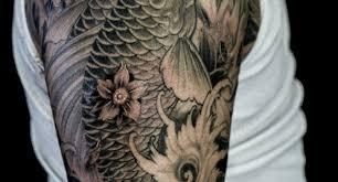 half sleeve tattoos for men black and grey japanese half sleeve